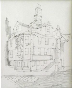 Ron Stenberg, 'John Knox House - Edinburugh' Graphite pencil on paper, 160 x 130 mm, POA at the Remuera Gallery