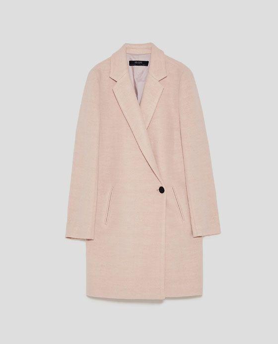 a558f3e7b410 Image 8 of SOFT CROSSOVER COAT from Zara