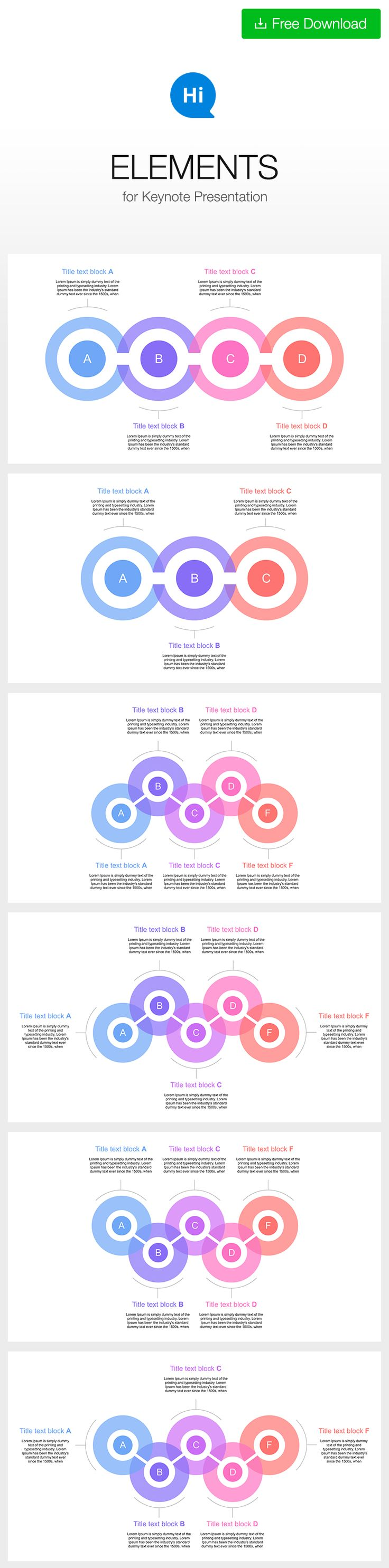 #free #timelime #template #slide for #keynote DOWNLOAD https://hislide.io/product/5-step-diagram-keynote/ #circle