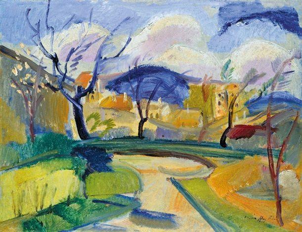 Landscape in Spring von Ödön Márffy