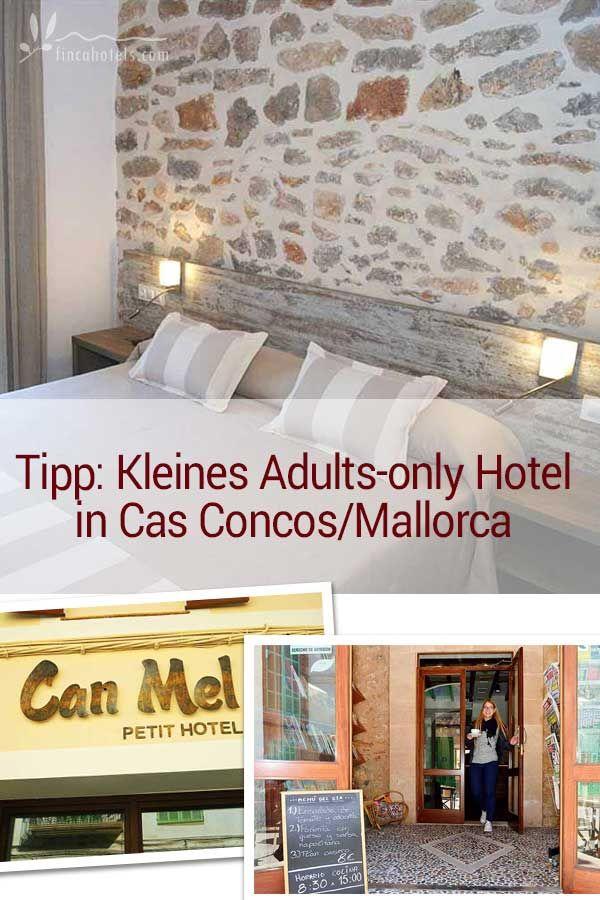 """Nur 4 gemütliche Zimmer beherbergt das hübsche Boutiquehotel """"Hotel Can Mel"""" im Süden von Mallorca. Das kleine Adults only Hotel nur für Erwachsene ist geschmackvoll eingerichtet und befindet sich nur 7 km vom Meer entfernt."""