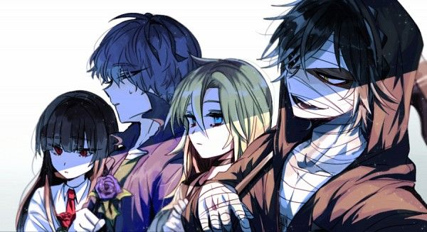 Ib crossover Angel of Slaughter 殺戮の天使 (Massacre Angel) (Satsuriku no Tenshi) 君が笑うまで #Anime #Manga #Game Fanart Ray (Rachel) and Zack (Isaac)