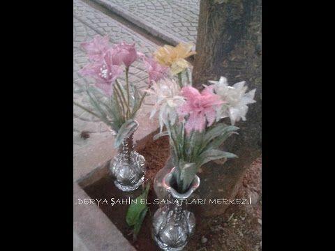 Titanyum ile Gelincik Yapımı - Poppies made by wire mesh ribbon (wire lace ribbon) - YouTube