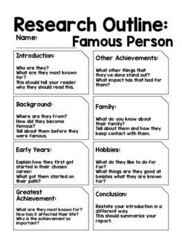 Famous People Lesson Activities