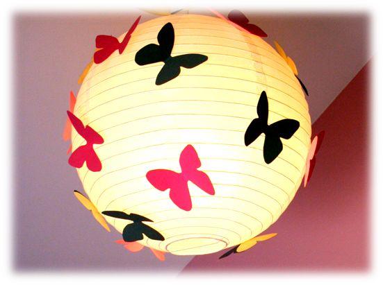 DIY boule japonaise aux papillons. Avec gabarits