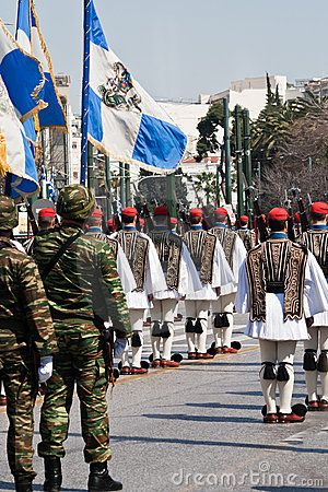 greek military | Greece - March 25th. Military parade at Greek independence day. Greek ...