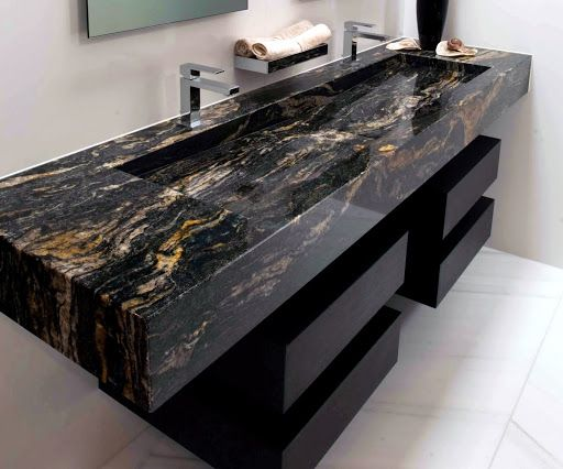Black Cosmic Granite Sink (512×426)