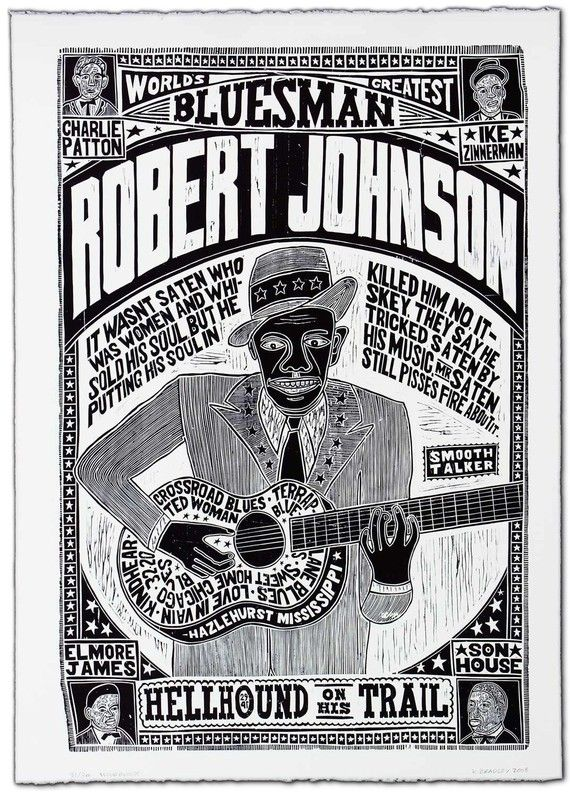 Love this woodblock print Gam: My grandson's great grandfather was Robert Johnson--so I had to repin this!