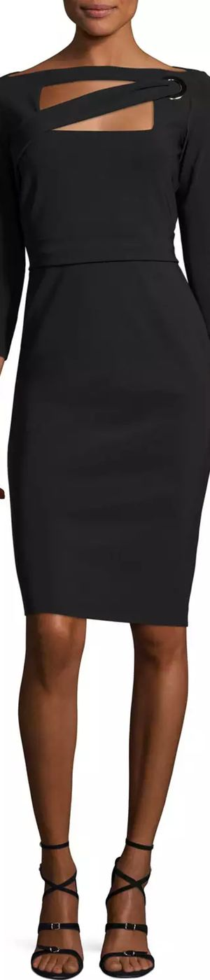 La Petite Robe di Chiara Boni Peekaboo Cutout Sheath Dress