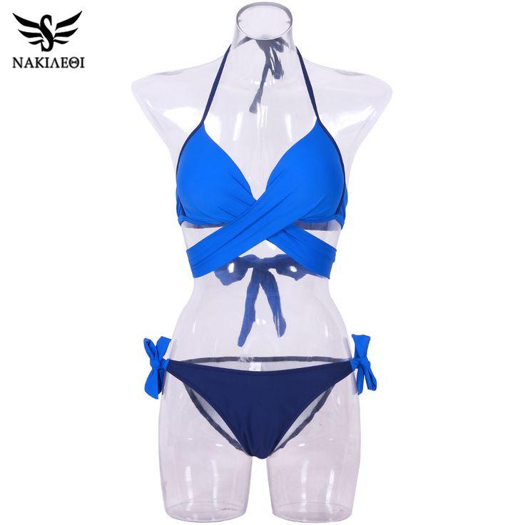 New Bikini Set Cross Bandage Swimwear Women You Porn 1