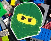 Lego Ninjago Iron-on Applique or Patch - ordering the kids sturdier backpacks this year to last several  years and let E. order two to sew on/ attach. They came yesterday and he is thrilled! After searching several sites, these were the only ninjago patches I could find.: Green Ninjas, Position Ninjago, Lego Minifig, Ninjago Green, Ironon Appliques, Ninjago Appliques, Minifig Green, Ninjas Ninjago, Wall Ideas