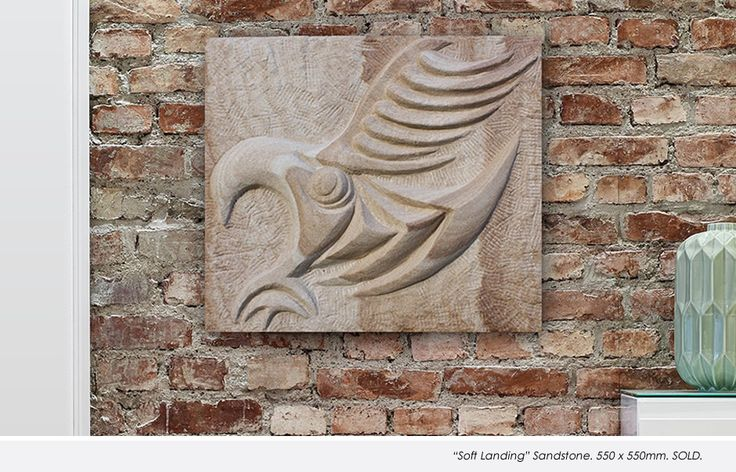 'Soft Landing' Sandstone. 550 x 550mm