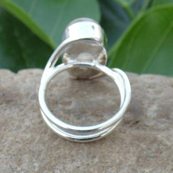 Cuarzo rutilado dorado anillo anillo hecho a mano de piedras