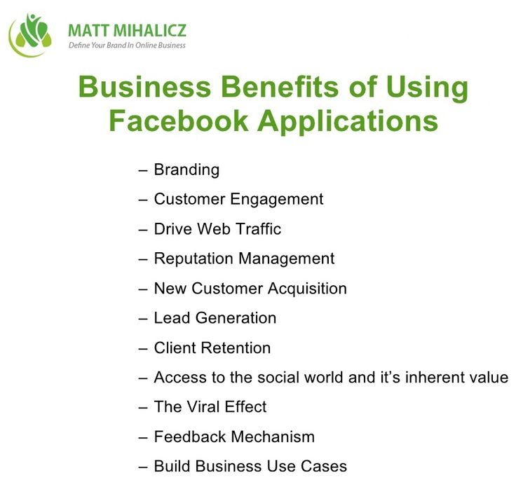 Let us see How Facebook Marketing benefits the entire idea of online business:  * Regular updates on your business can touch global visitors and in turn bring in excellent results * It helps in building long-term relationships with the customer * Group participation with your business's niche becomes easier