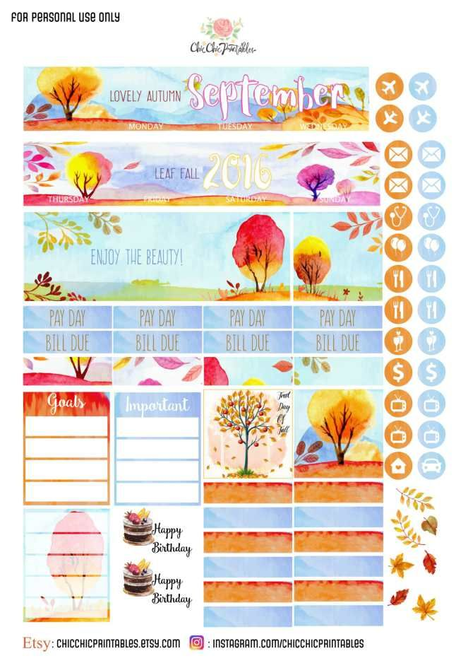 Fall Monthly Free Printable Sticker