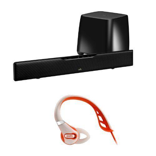 polk audio surroundbar 5000 iht speaker bar with wireless subwoofer plus polk ultrafit 500 sport. Black Bedroom Furniture Sets. Home Design Ideas