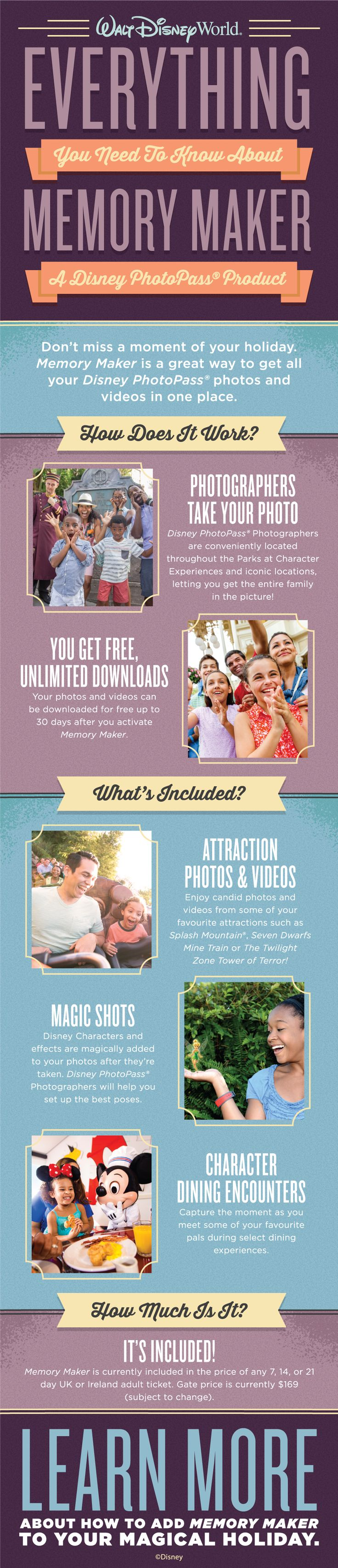 Here's everything you need to know about Memory Maker which captures all of the precious memories from your Walt Disney World holiday – and the best thing is it's currently included with all UK Ultimate adult tickets!