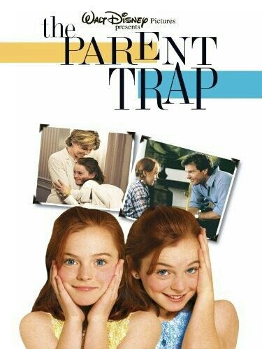 """MOVIE - The Parent Trap """"1998"""" (Genre: Romance/Comedy/Family) Starring: Lindsay Lohan as Hallie Parker+Annie James, Dennis Quaid as Nick Parker, Natasha Richardson as Elizabeth James, Elaine Hendrix as Meredith Blake, Lisa Ann Walker as Chessy, Simon Kurz as Martin  Ronnie Stevens as Grandfather. Plot: Identical twins, separated at birth  each other raised by one of their biological parents, discover each other for the first time at summer camp  make a plan to bring their parents back…"""