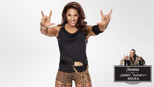 "The Legendary Jimmy""Superfly Snuka and his daughter Tamina Snuka"