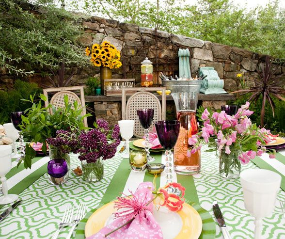 Peacolor Wedding Ideas: Bridal Shower, Garden Party Theme, Mix And Match