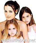 Yasmin, Amber & Saffron Le Bon 1994