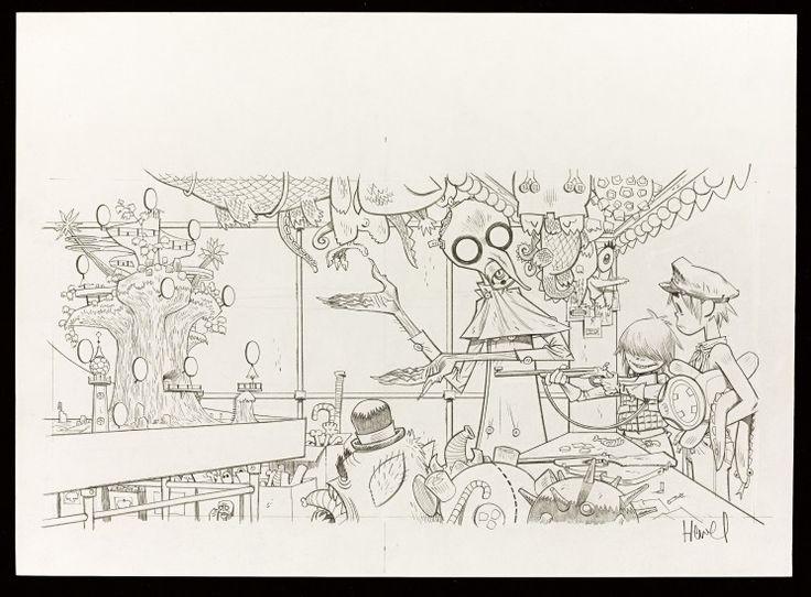 Jamie Hewlett – 'Sweepstakes' – House Of Illustration