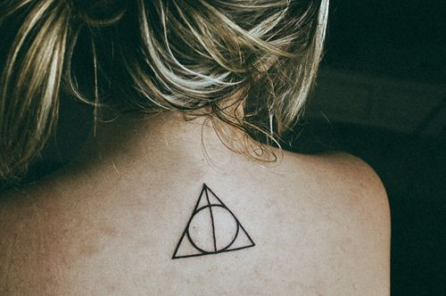 """20 Awesome Minimalist Harry Potter Tattoos -- Because some people want to show their affection for """"the boy who lived"""" by showing it on their skin. Always."""