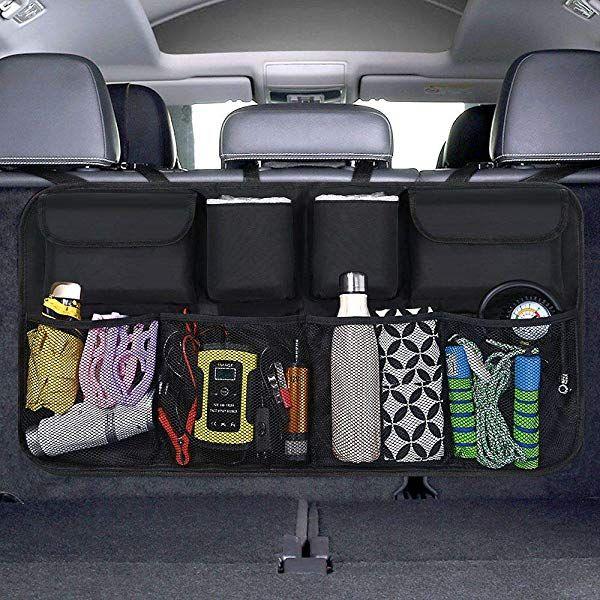 SURDOCA Kofferraum Organizer Auto autotasche kofferraumtasche ausgestattet mit doppelte Kapazit/ät 3rd Gen Organizer Auto kofferraumtasche Starkes elastisches Netz /& 3 Zauberstabstruktur
