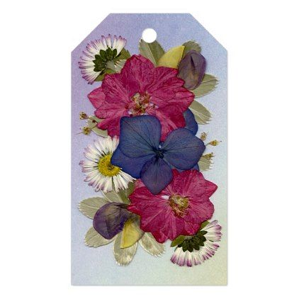 Pressed Flower Customizable Gift Tags 10 pack Gift Tags - floral style flower flowers stylish diy personalize