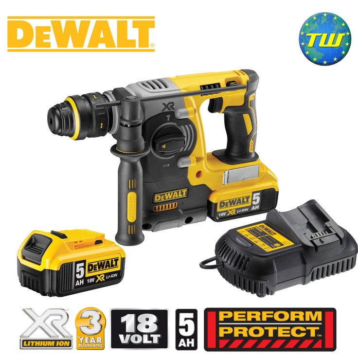 http://www.twwholesale.co.uk/product.php/section/10445/sn/DeWalt-DCH273P2-GB DeWalt's DCH273P2 18V XRP BRUSHLESS Rotary Hammer Drill delivers category-leading high speed drilling performance at more than 90 holes (10mm Ø x 80mm) per charge. The cordless tool is perfect for drilling anchors and fixing holes into concrete, brick and masonry 4-24mm.