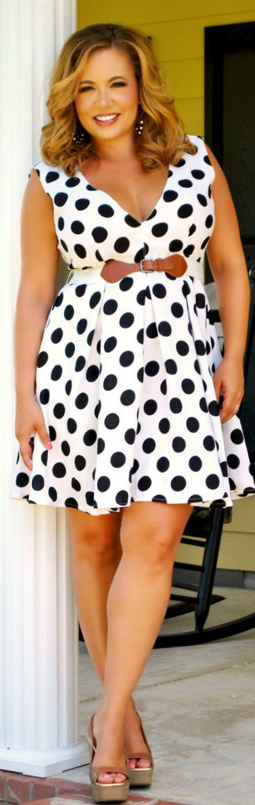 Perfectly Priscilla Boutique - Too Dot To Trot Dress, $48.00 (http://www.perfectlypriscilla.com/too-dot-to-trot-dress/)