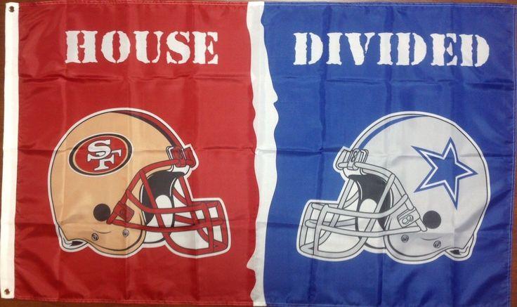 Dallas Cowboys and San Francisco 49ers: House Divided Flag; 3'x5'