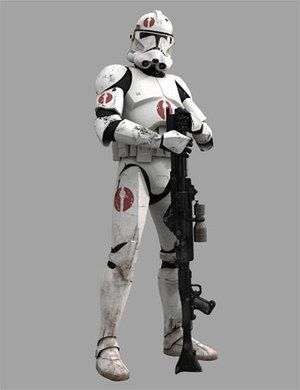 this is what commander Neo's ground troops would have looked like, since he was mostly on speeder bike though, they were mostly commanded by a sergeant or lieutenant in his legion.