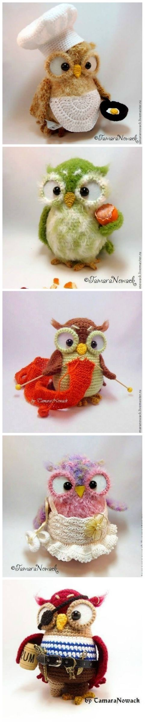 Owl Crochet Patterns by Tamara Nowack: