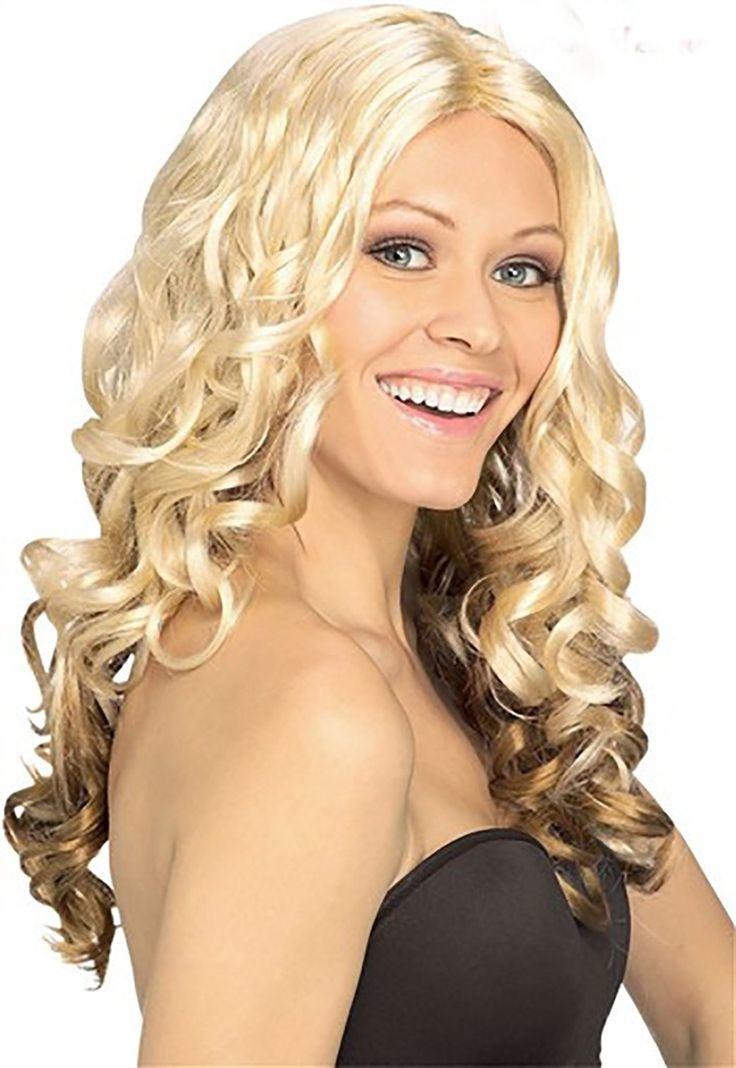 Xanyi Women's Costumes Long Full Natural Wavy Bombshell Wig Hair Blonde Wig