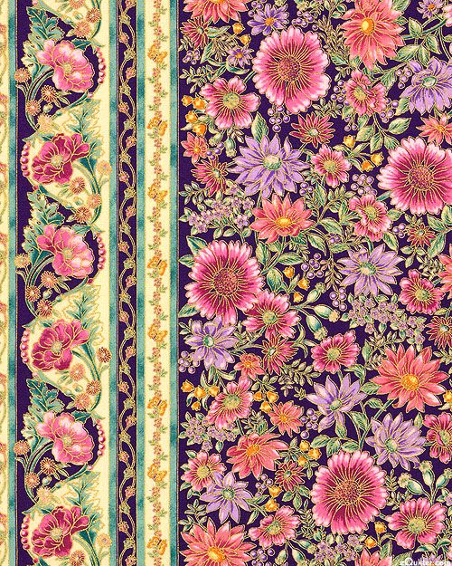 Robert Kaufman - Tuscan Wildflower 3 APTM-15406-238 GARDEN panel