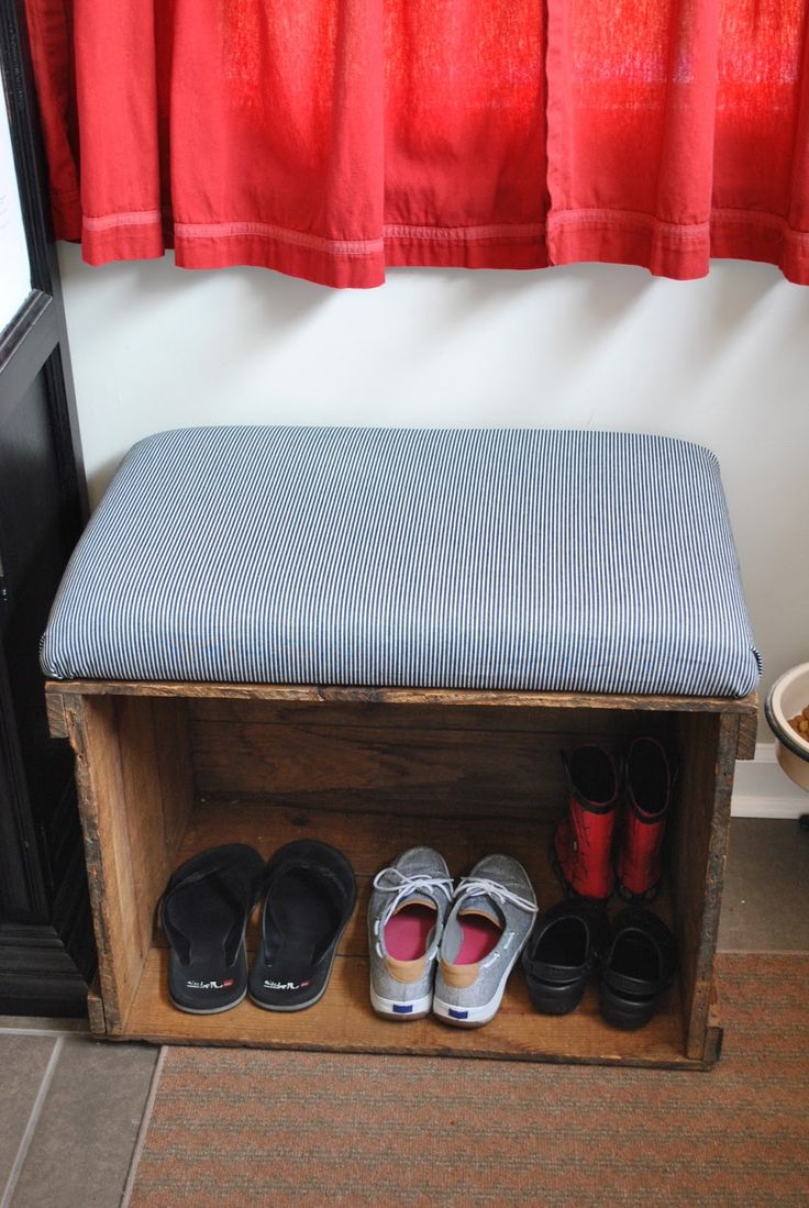 Best 25 crate storage ideas on pinterest crate crafts for Wood crate bench
