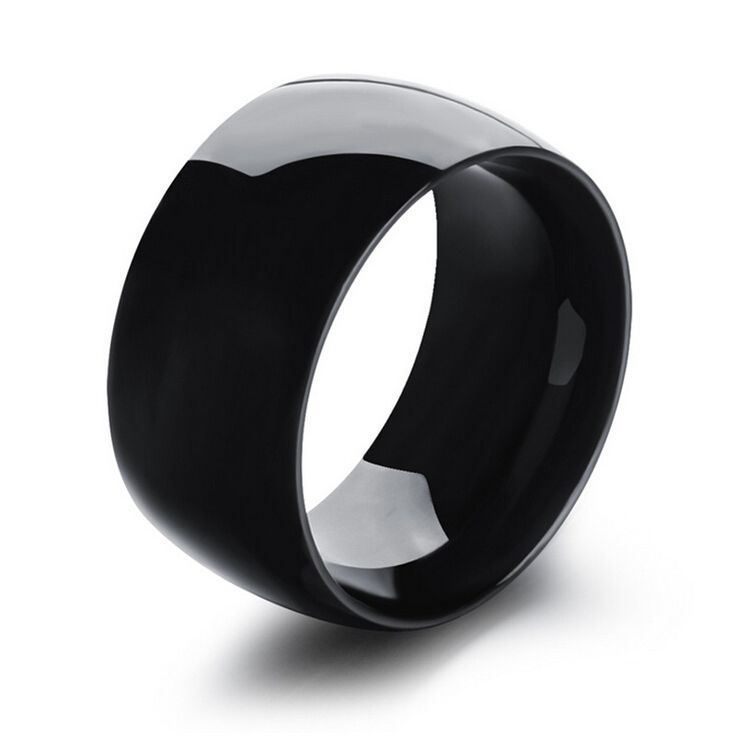 Smooth cool personality big version mens ring titanium steel fashion jewelry big rings for men korean men jewelry