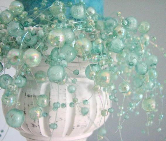 .Ideas, Mint Green, Candles Rings, Blue, Colors, Aqua Beads, Bedrooms, Glasses Vases, Sea Glasses