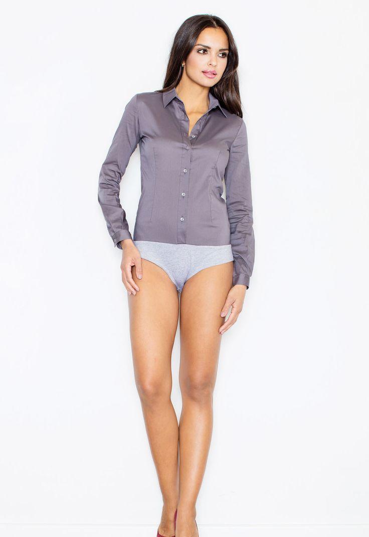Short sleeves women's bodysuit, purple