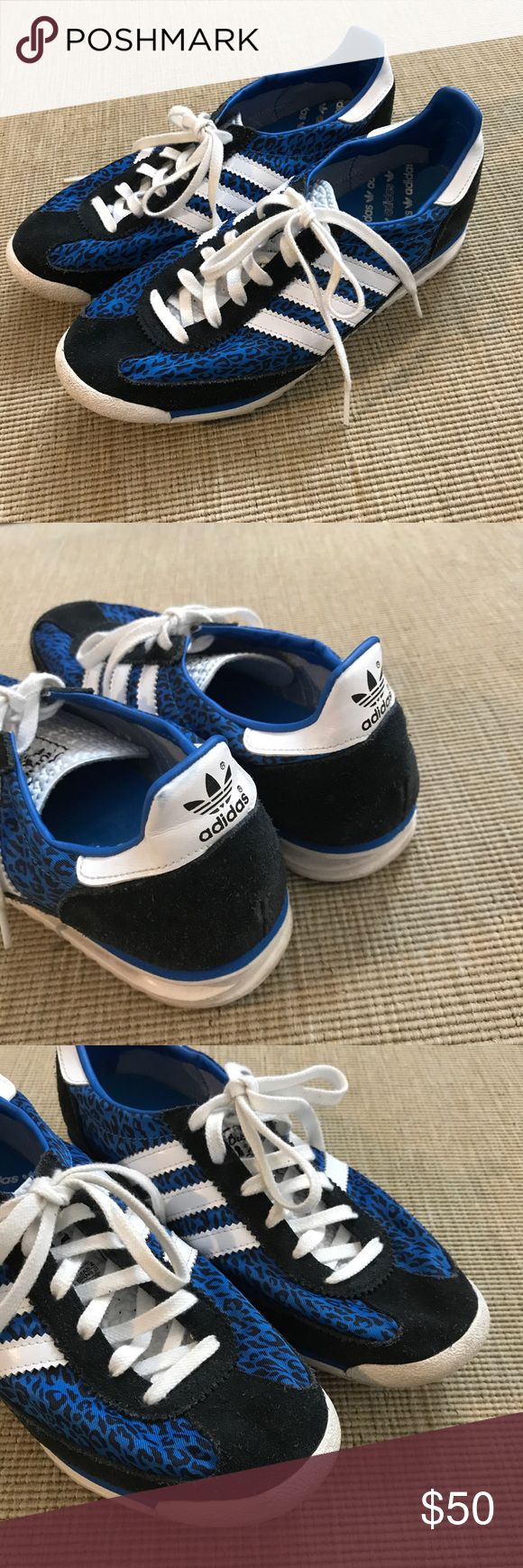 Adidas Womens Retro Running Shoes Blue Leopard 7.5 Adidas Originals SL72 W SL 72 2013 Womens Retro Running Shoes Blue Leopard. Barely worn these look new! Size 7.5 adidas Shoes Athletic Shoes