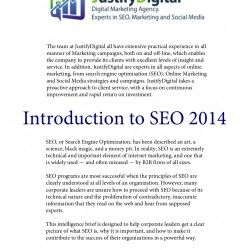 Introduction of SEO in 2014, giving you the latest updates regarding SEO. This presentation is perfect for any business enthusiast who wants a crash c