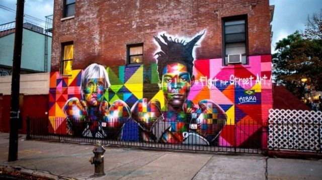 Colorful Wall of Basquiat and Warhol – Fubiz™