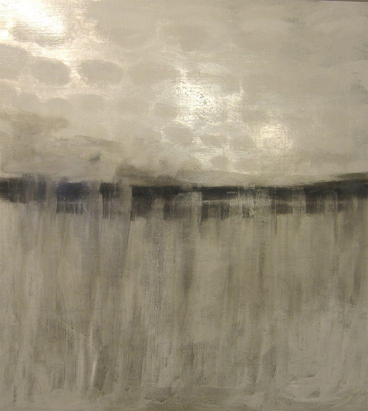 Riikka Soininen Valkoinen maisema 2009The white land, oil and aluminium leaf on canvas 115x100