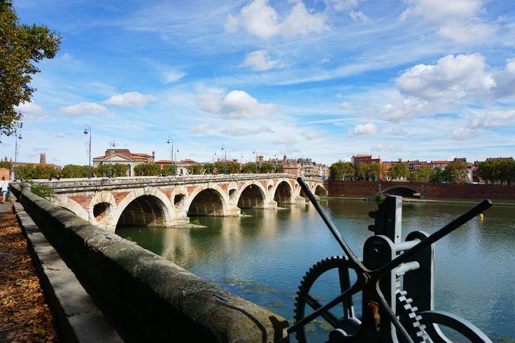 river technic and old bridge