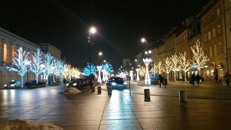 Ul. Krakowskie Przedmieście. Widok od strony Pl. Zamkowego. 10.01.2017 r. Autor zdjęcia Lili Pet.