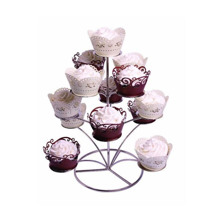 PME Chrome Cupcake Stand from Bath Cake Company - Fancy cake stands, boxes, tins and other supplies available at bathcakeshop.co.uk