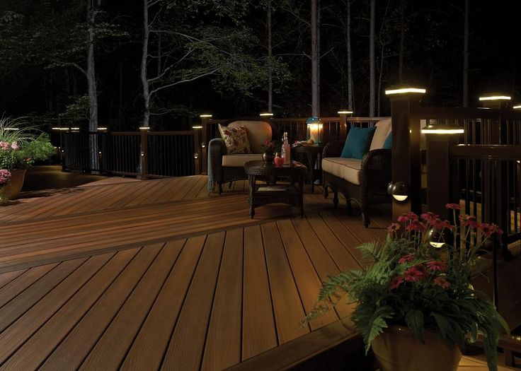 Fiberon horizon ipe decking railing and lighting