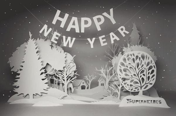 Happy New Year 2012 by Natali Strelchenko, via Behance #christmascard