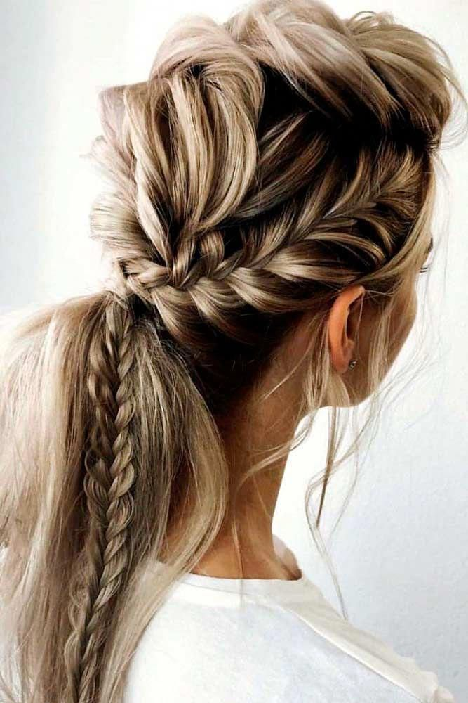 Braided Messy Ponytail #ponytailhair #braidedhair ★ Check out our collection of prom hairstyles for long hair. We have picked only the trendiest an